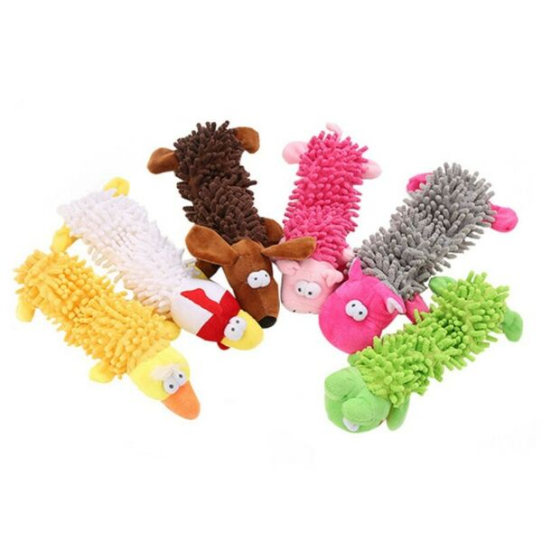 Plush Dog Puppy Pet Squeaker Toys Squeaky Funny Sound Play Mop Chew Toy for Dog  $3.46