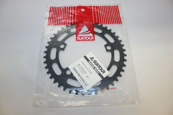 NOS SUNTOUR 44T CHAINWHEEL CHAIN RING BLACK BMX VINTAGE OLD SCHOOL