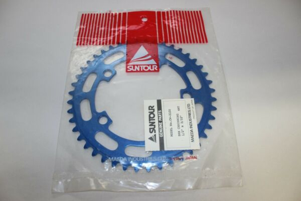 NOS SUNTOUR 44T CHAINWHEEL CHAIN RING BLUE BMX VINTAGE OLD SCHOOL