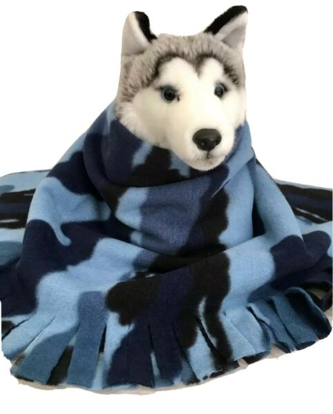 CAMOUFLAGE BLUE Fuzee Fleece Dog Blankets Soft Pet Blanket Throw $12.60