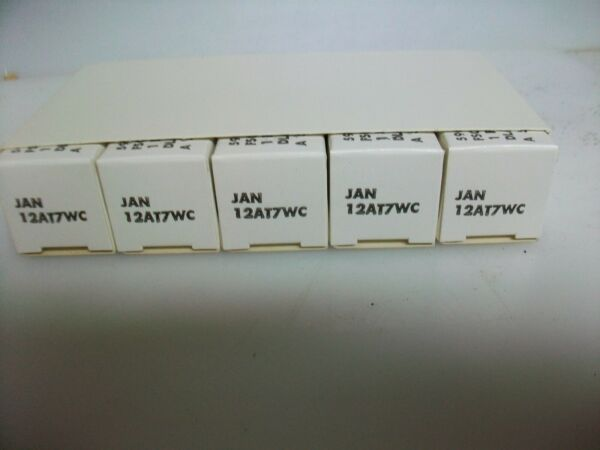 NOS SLEEVE OF 5 NOS PHILIPS JAN 12AT7WC TUBES