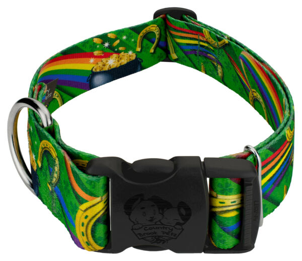 Country Brook Petz® 1 1 2 Inch Deluxe Leprechaun#x27;s Fancy Dog Collar $13.95