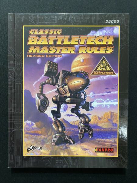 Classic BattleTech Master Rules Revised Edition FASA #35000 Book Unused