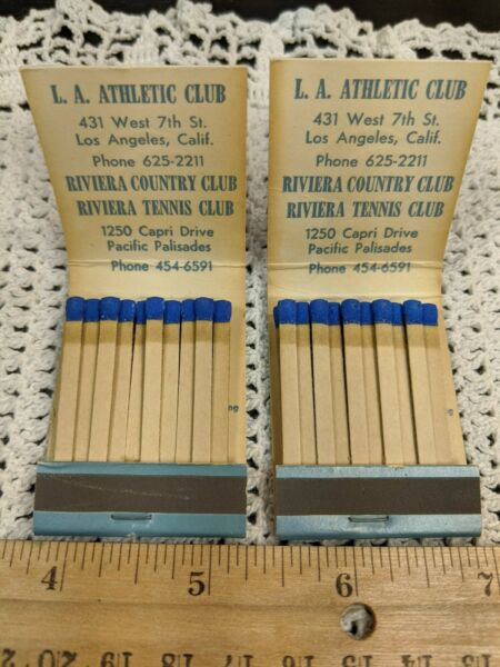 Lot 2 Matches Matchbooks LOS ANGELES ATHLETIC CLUB LAAC  ----------