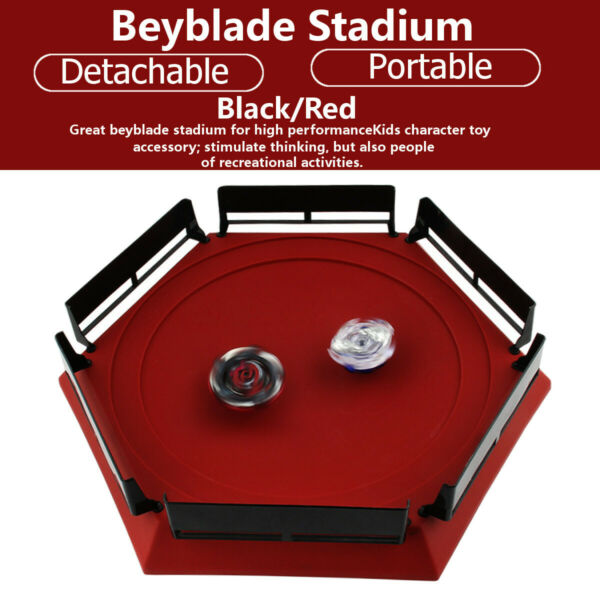 Plastic Metal Fusions Burst Plate Combat Stadium Hexagonal BlackRed