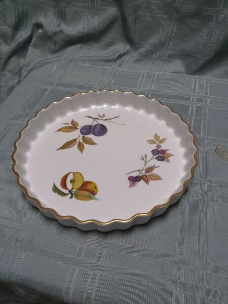 ROYAL WORCESTER Evesham QuicheTart Large 10 12