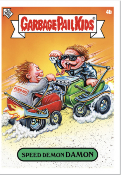 2020 Garbage Pail Kids - The NOT-SCARS Sticker Set - 4B Speed Demon DAMON