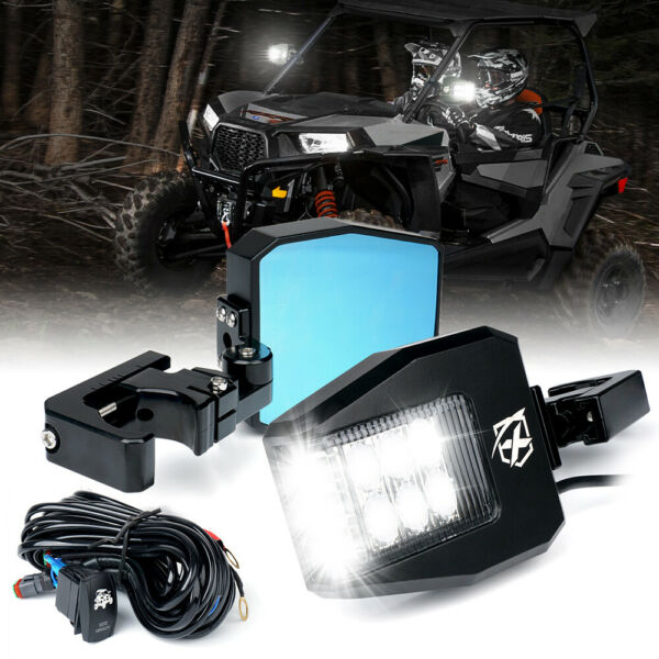 Xprite Rear View Side Mirrors w LED Lights for Polaris RZR XP Can-Am Buggy