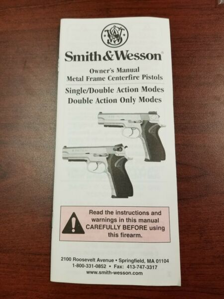 Smith & Wesson Semi Auto Pistols Safety & Instructon Owners Manual FREE SHIPPING