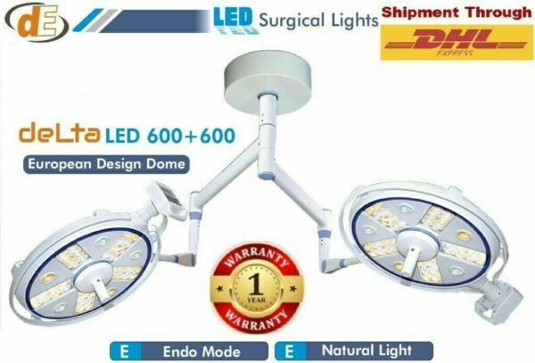 NewLED OT Light Cold Operation Theater Shadowless model Double Satellie Lights