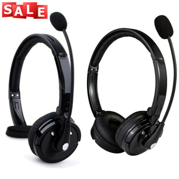 Over Head Boom Mic Bluetooth Noise Canceling Headset Wireless For Trucker Driver $31.34