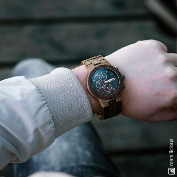 JORD CONWAY WALNUT amp; JET BLACK WOOD WATCH
