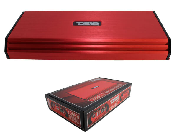 1500 Watt 1 Channel Class AB Amplifier Red Pro Car Audio DS18 S1500.1