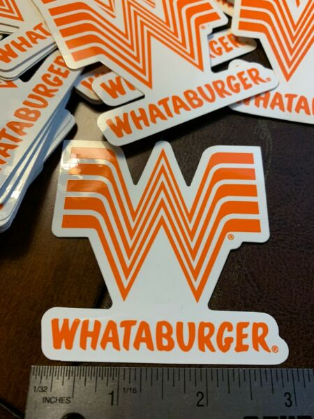 Whataburger Sticker 3quot; For ANYTHING $9.90