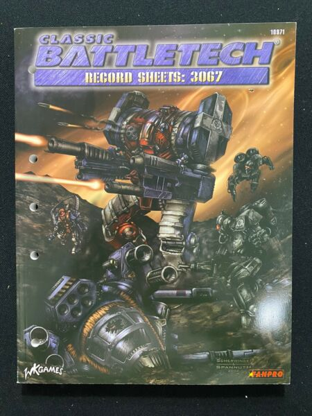 Classic BattleTech Record Sheets: 3067 Book #10971 Unused