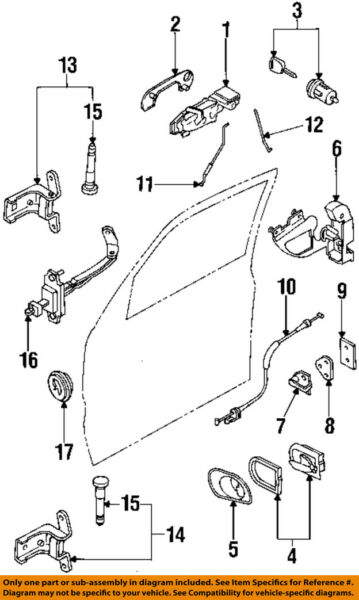 FORD OEM Front Door-Lock Latch Kit F5RZ5421812A