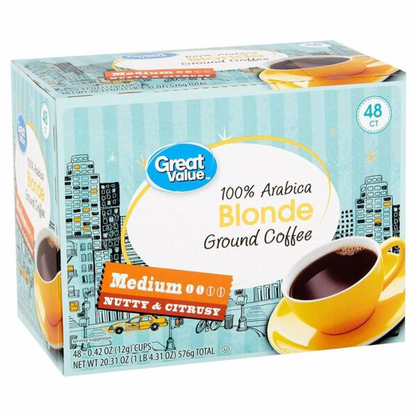 Great Value Blonde Single Serve Cups 96 k cups Count Closeouts Exp Below
