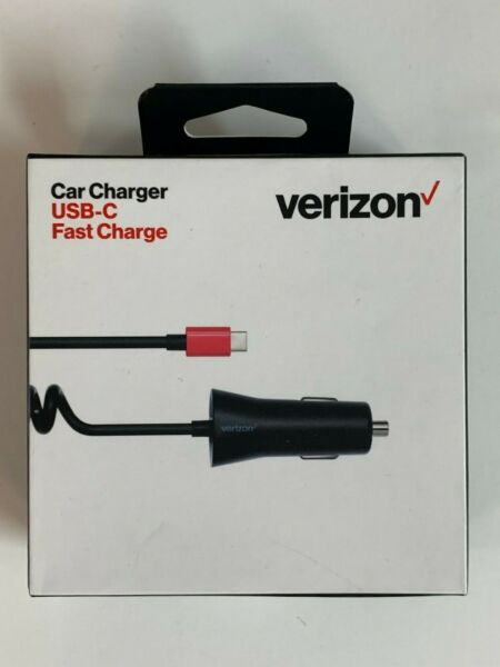 Verizon USB Type C Cable Car Charger 6ft Fast Charge For Samsung LG HTC Google $7.99
