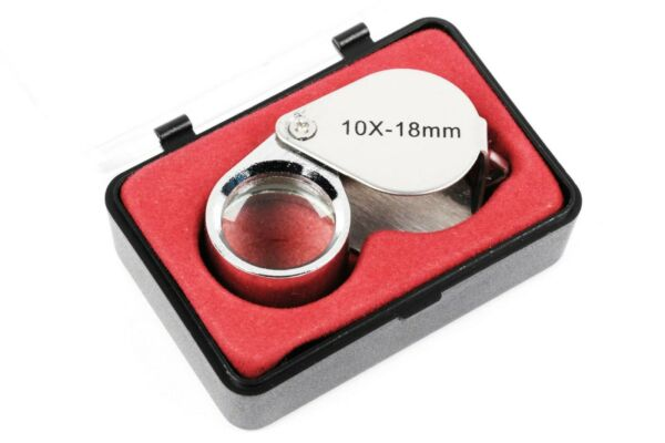 Triplet Lens 10x 18mm Eye Glass Loupe with Case Eyeglass Magnifier Magnifying