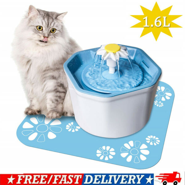 Pet Water Fountain Electric Water Dispenser For Cat Dog Automatic Three Modes US $17.95