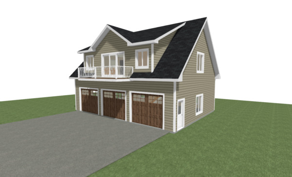 GARAGE PLANS 3 Car Garage w Materials List Pick Size Pitch and Wall Height $79.95