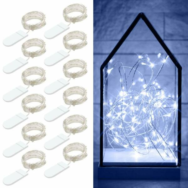 Govee 12 Packs Fairy String Lights 3.3FT 20 LEDs Battery Operated  Cool White