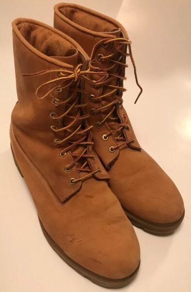 VINTAGE TIMBERLAND MADE IN USA DISTRESSED TIMBERLAND WORK LACE UP BOOT SIZE 13 $199.99