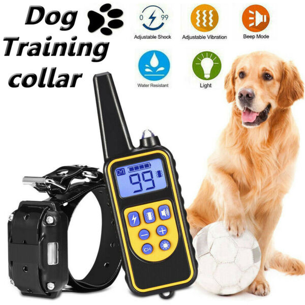 Dog Shock Collar With Remote Waterproof Electric For Large 880 Yard Pet Training $28.33
