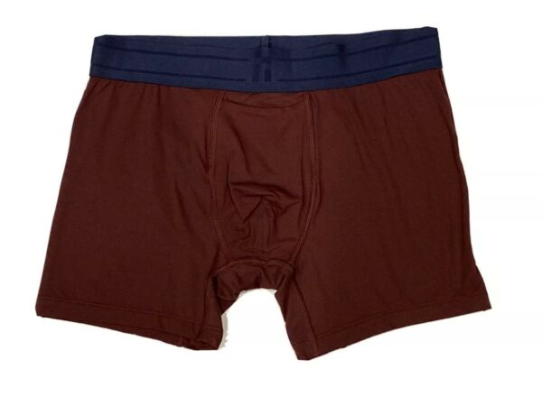 TOMMY JOHN Light Air Mesh TRUNKS M Maroon with Navy Blue band