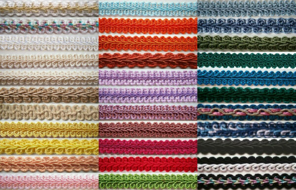 3 Yards Chinese and French Gimp Braid 1 2quot; Soft US Made Solids and Metallics $2.50