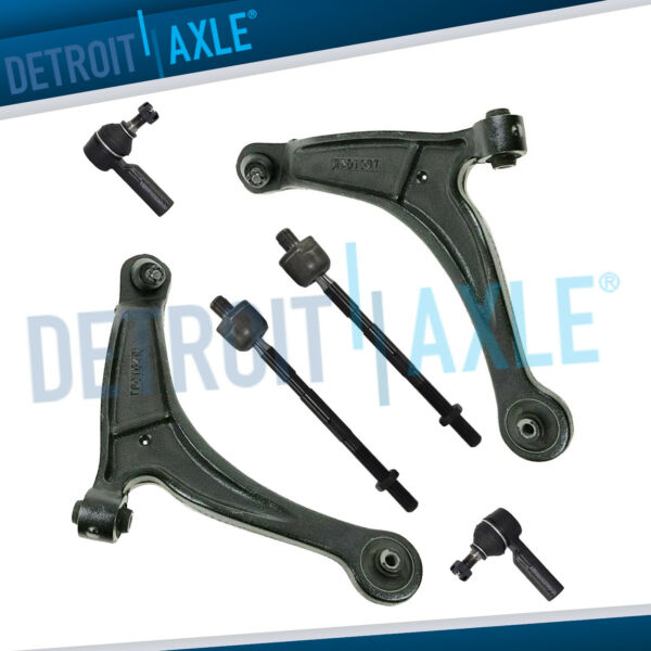 Front Lower Control Arms w Ball Joints + Tierods for 2006-2014 Honda Ridgeline