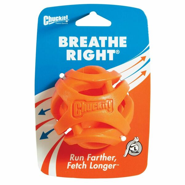 ChuckIt! Breathe Right Fetch Ball Dog Toy Large $11.95