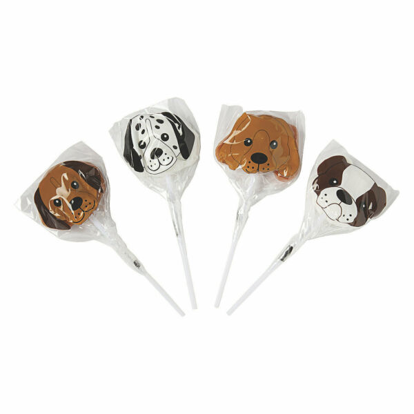Dog Shaped Lollipops Birthday Party Favors Unique Novelty Suckers 12 Pieces $13.86