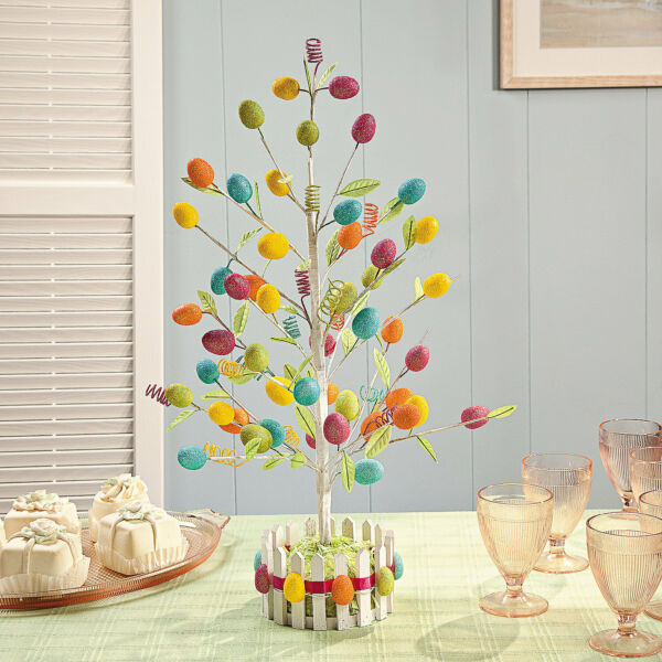 Easter Egg Tree Decoration Springtime Home Decor Party Decorations 1