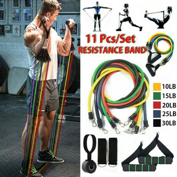 Exercise Fitness Tube Resistance Bands Set Strength Training Slimming Product# $5.70