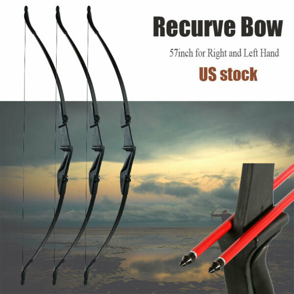 57 inch Takedown Recurve Bow Hunting 3D Archery Target Practice Right Left Hand