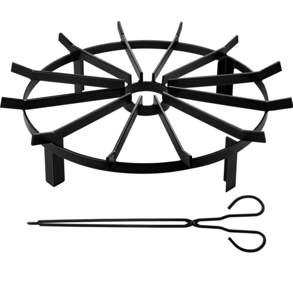 Wheel Fire Grate Fire Pit Log Grate 24 Inch Fire Pit Grate Round Fire Pit Wheels