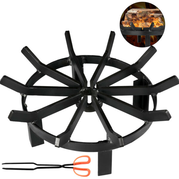 Wheel Fire Grate Fire Pit Log Grate 16 Inch Fire Pit Grate Round Fire Pit Wheels