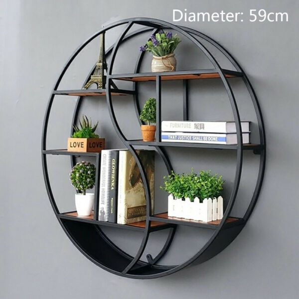Vintage Decorative Wall Mounting Rack Ring shelf Wall-Mounted Shelving 59CM DHL