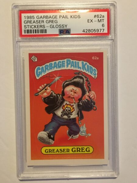1985 Garbage Pail Kids Series 2 Greaser Greg #62a PSA Graded EX-MT 6