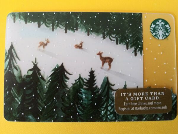 Starbucks gift card 2017 quot; MOUNTAIN DEER quot; GREAT PRICE HTF NEW NO VALUE