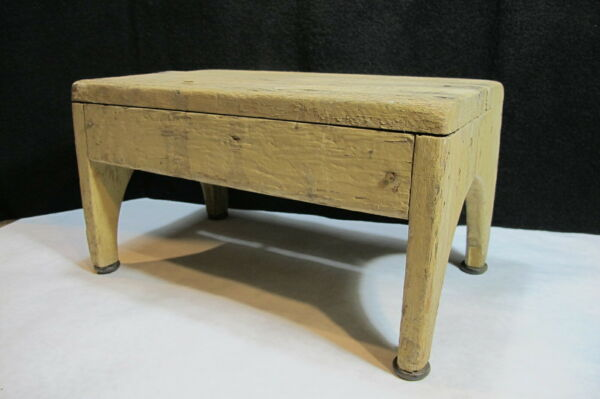 Antique Vintage Handmade Wood Kids Step Stool Found in Idaho Mountain Cabin