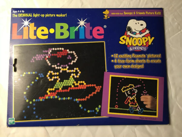 Lite Brite 1999 Picture Refill Kit Charlie Brown Peanuts Various Sheets