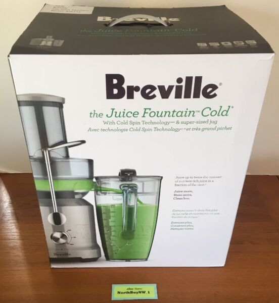 *NEW* BREVILLE JUICER The Juice Fountain Cold Stainless Steel Model BJE430SIL
