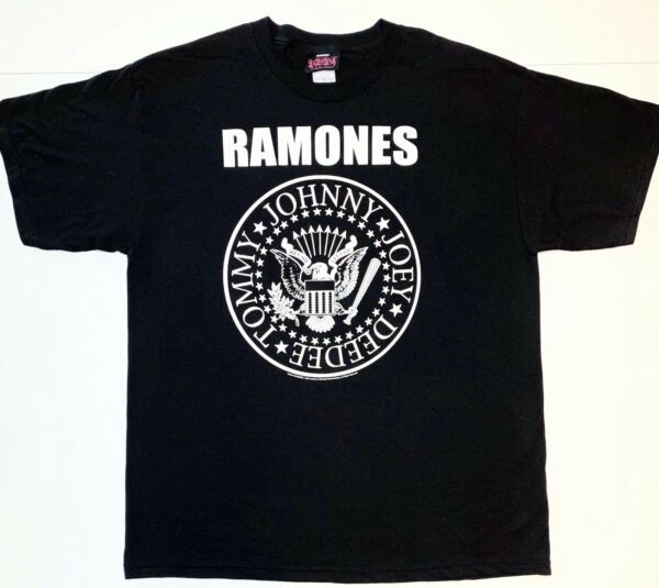 Official Ramones 2014 Black Graphic T Shirt Johnny Joey DeeDee Tommy Size XL $22.99