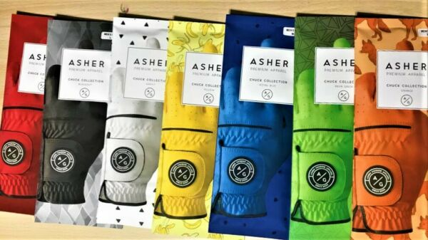CHUCK BY ASHER GOLF GLOVES RIGHT HANDED GOLFER(FITS ON LEFT HAND) 7 COLORS!