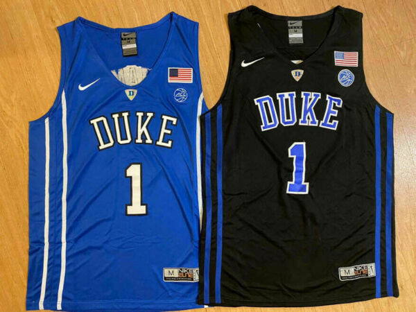 #1 Zion Williamson Elite Duke Mens Basketball BlackBlue Devils Stitched Jersey
