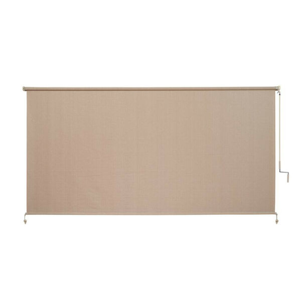 120W72L Window Shade Exterior Solar Roll Up Patio Curtain Screen Blind Camel $135.49