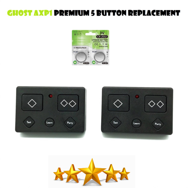 Ghost Controls AXS1 3-Button Remote Transmitter Automatic Gate Opener 2 Pack $19.95