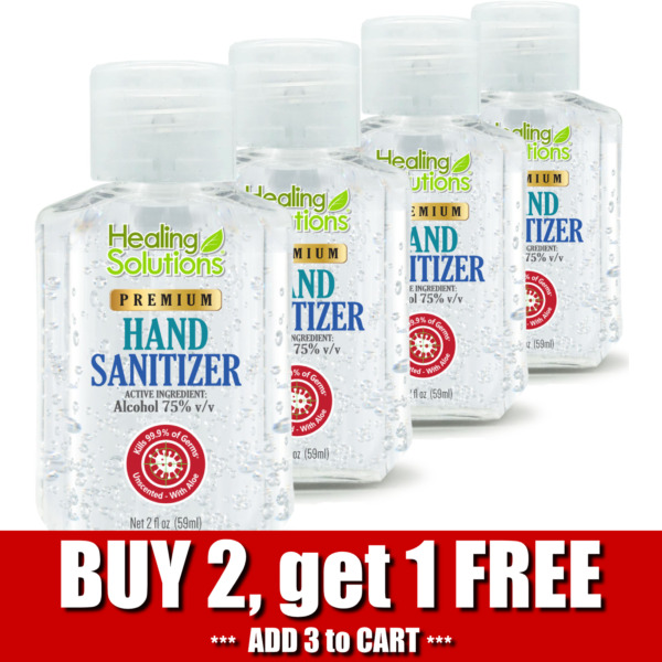 Hand Sanitizer Gel 75% Alcohol Meets WHOCDC Standards Scent-Free 2oz - 4 PACK